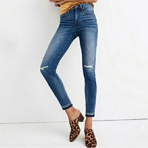 Madewell 9 High-Rise Skinny Jeans Rip Distressed